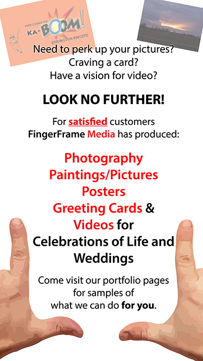 Welcome image. Finger Frame Media can do many things for you.